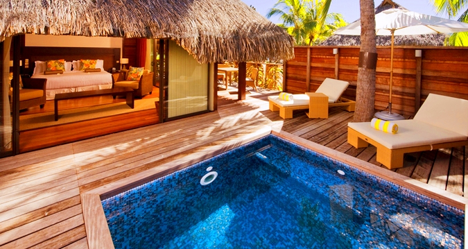 Hilton Moorea Lagoon Resort&Spa-King Deluxe Garden Pool Bungalow