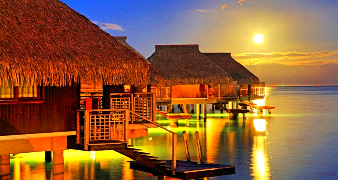 Hilton Moorea Lagoon Resort-sunset