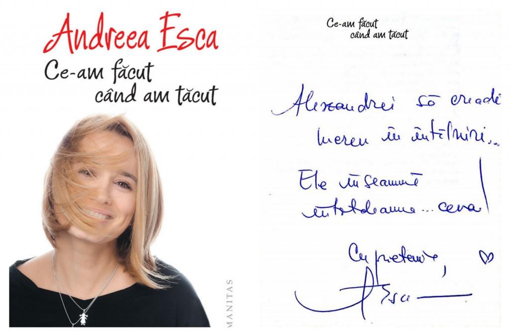 Autograf Andreea Esca