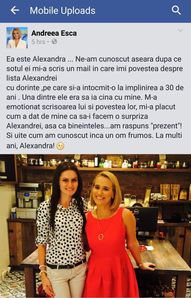 Facebook Andreea Esca
