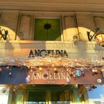 Angelina Cafe entrance Paris through the voice of Celine Dion