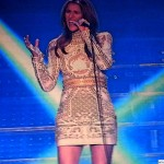 Celine Dion singing Pour que tu m'aimes encore-Paris through the voice of Celine Dion