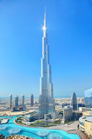 Burj Khalifa-Dubai, U.A.E.-by day
