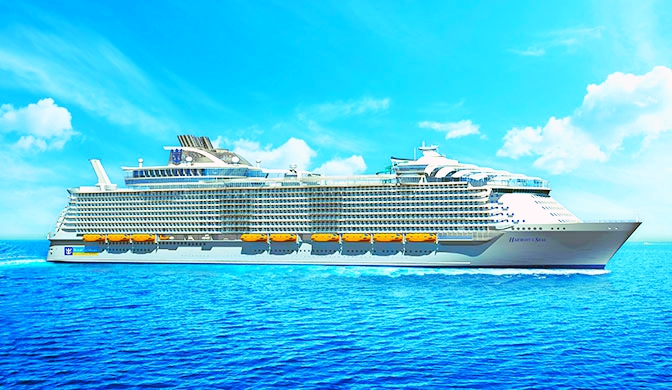 Harmony of the seas-cel mai mare vas de croaziera din lume-cruising