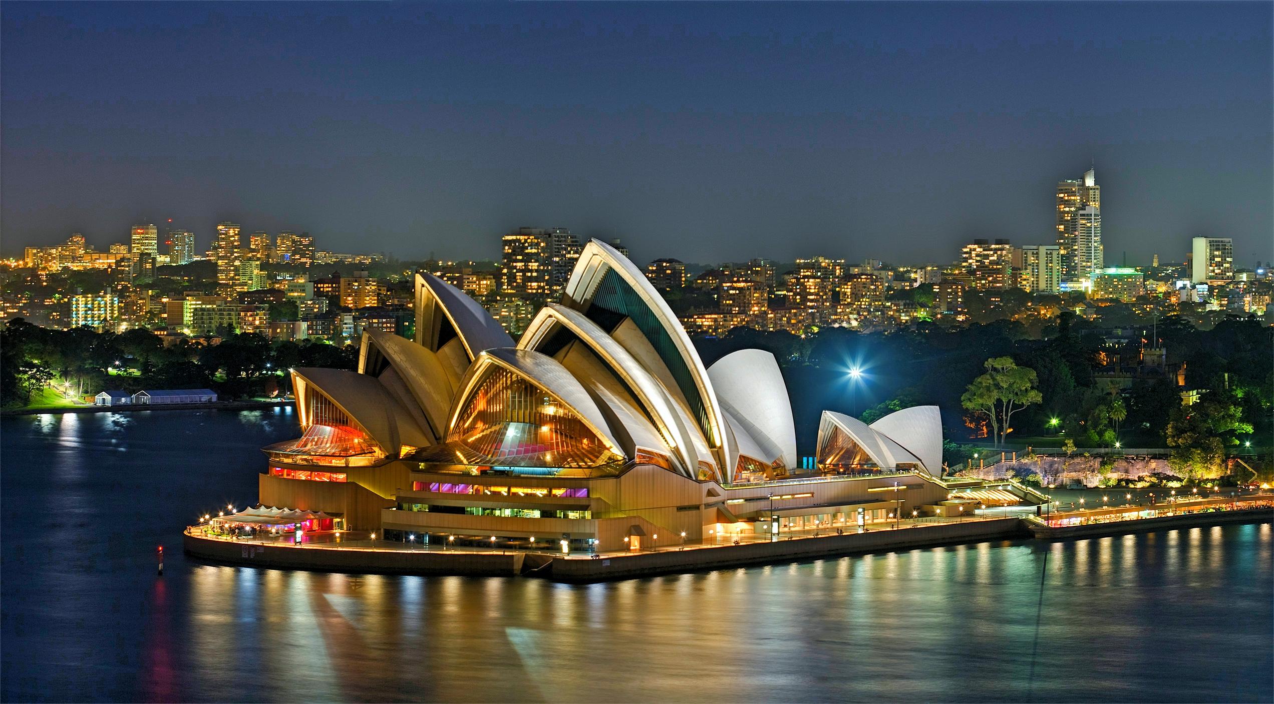 Sydney Opera House-Sydney, Australia-by night